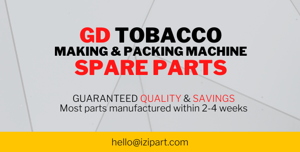 GD Tobacco making & packing machine spare parts