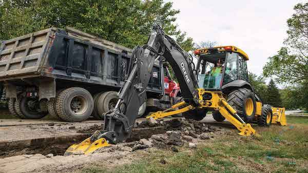 Updates made to the John Deere 310SL Backhoe