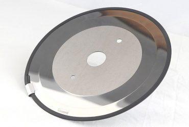 Tungsten carbide thin slitting blades.
